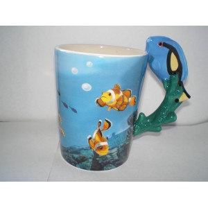 Mug anse poisson tropical