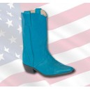 "Botte western, cuir turquoise, modèle "" NEVADA """